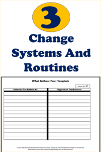 Change Systems and Routines