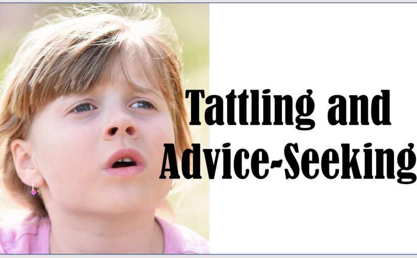 Tattling and Advice-Seeking