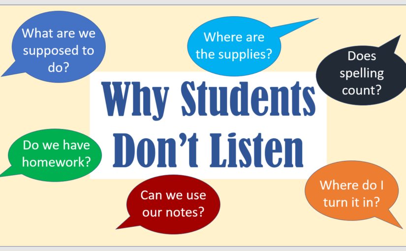 Why Students Won't Listen